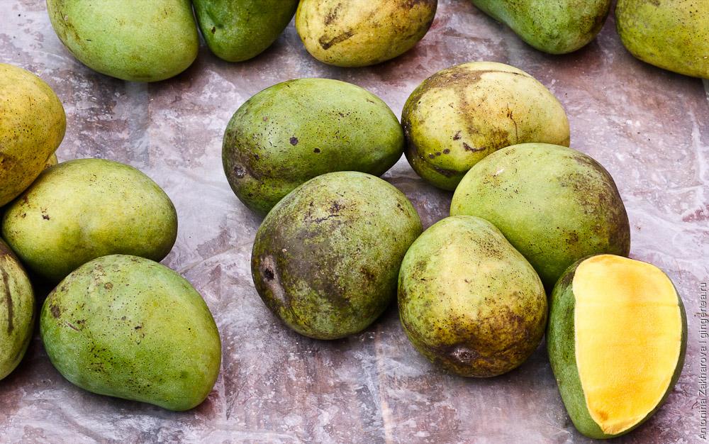 Неспелый манго